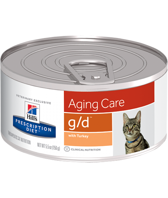 Hill's Prescription Diet Feline g/d Aging Care Canned Food (Turkey) - 5.5oz, Veterinary Products, Hill's 希爾思