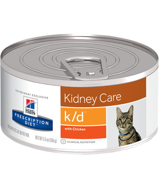 Hill's Prescription Diet k/d Feline Kidney Care Canned Food (Chicken Flavor) - 5.5oz, Veterinary Products, Hill's 希爾思