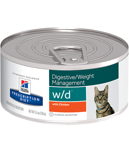 Hill's Prescription Diet w/d Feline Digestive / Weight Management Canned Food - 5.5oz