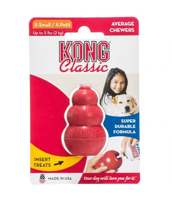 Kong Classic 美國犬用訓練及抗抑鬱橡膠咀嚼玩具