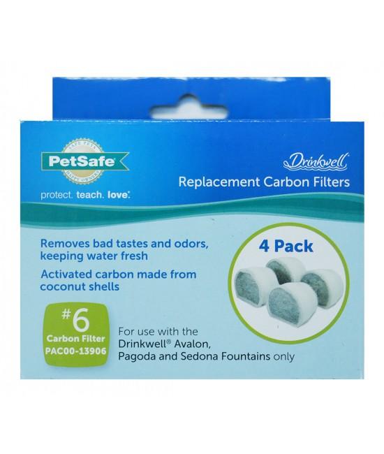 PetSafe Drinkwell Ceramic 活性炭濾芯 - 4件裝
