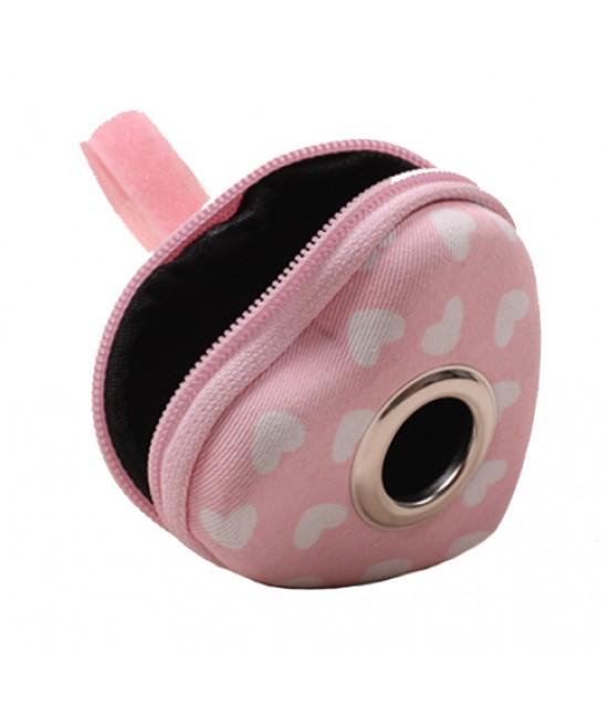 PetsInn 環保拾便袋/愛心心形垃圾包(粉紅色) -  9cm x 7cm