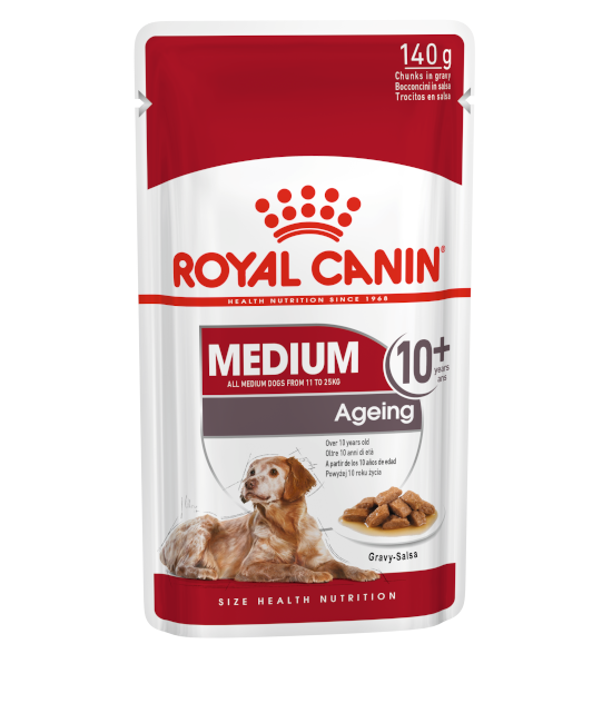 Royal Canin SHN 中型老年犬 MEDIUM Ageing 10+ (Gravy) 狗濕糧