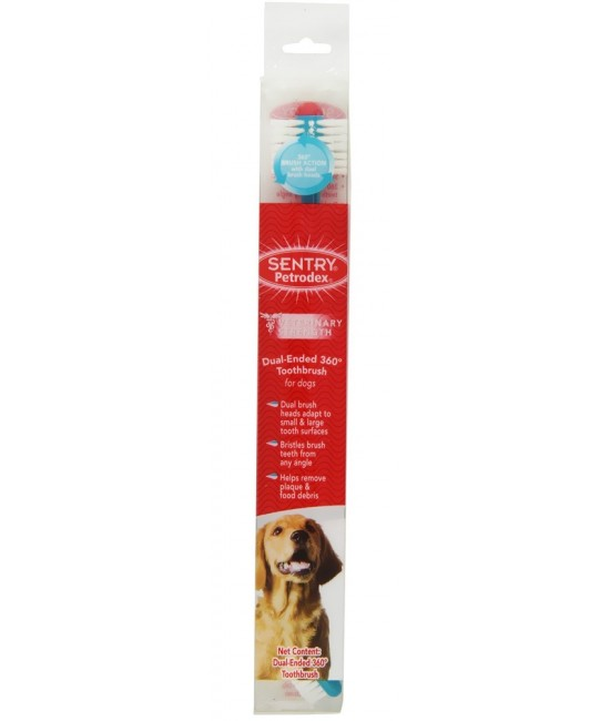 Sentry Petrodex 雙頭360°大型犬用牙刷