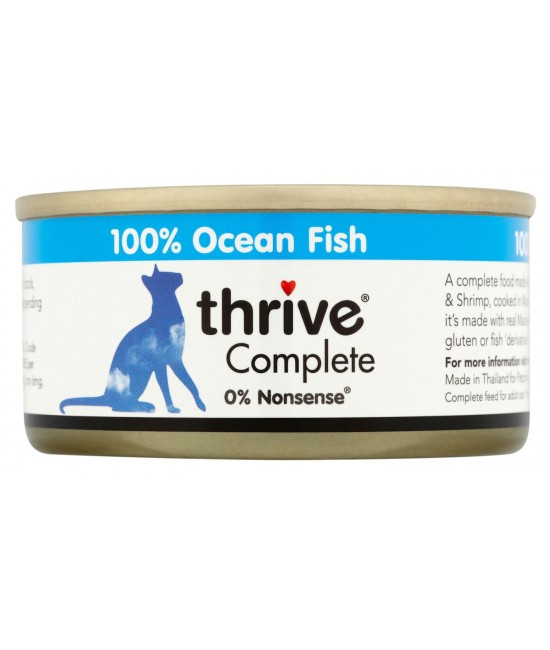 Thrive 整全膳食 100%白魚貓罐頭 - 75g