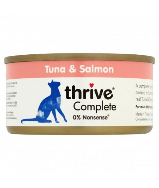 Thrive 整全膳食 100%吞拿魚、三文魚貓罐頭 - 75g