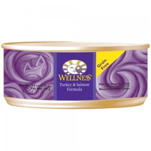 Wellness 無穀物均衡營養貓罐頭(火雞、三文魚) - 5.5oz