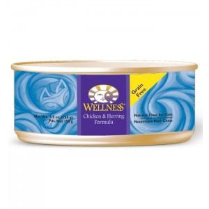 Wellness 無穀物均衡營養貓罐頭(雞肉、鯡魚) - 5.5oz