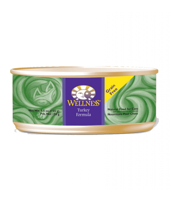 Wellness 無穀物均衡營養貓罐頭(火雞) - 5.5oz