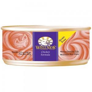 Wellness 無穀物均衡營養貓罐頭(雞肉) - 5.5oz