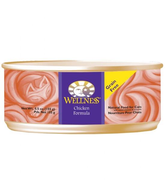 Wellness 無穀物均衡營養貓罐頭(雞肉) - 5.5oz, 貓貓產品, Wellness