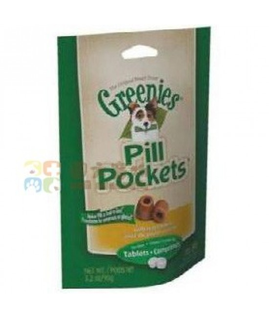 Greenies 狗狗雞肉小食 (輔助餵飼藥片) 3.2oz
