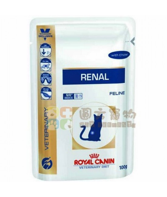 Royal Canin 法國皇家獸醫處方腎臟護理配方雞肉味貓濕糧Renal Pouch-Chicken Flavour(RF23) - 85g