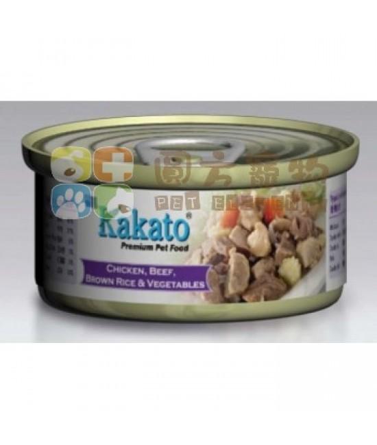 Kakato 卡格 雞、牛、糙米、菜罐頭 - 170g