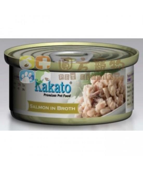 Kakato 卡格 三文魚、魚湯罐頭 - 170g