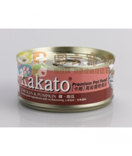Kakato 卡格 雞及南瓜罐頭 - 170g