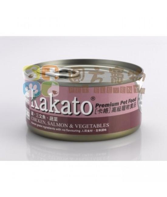Kakato 卡格 雞、三文魚、蔬菜罐頭 - 170g