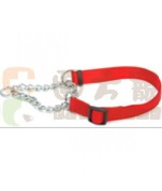 紅色尼龍頸圈鐵鍊