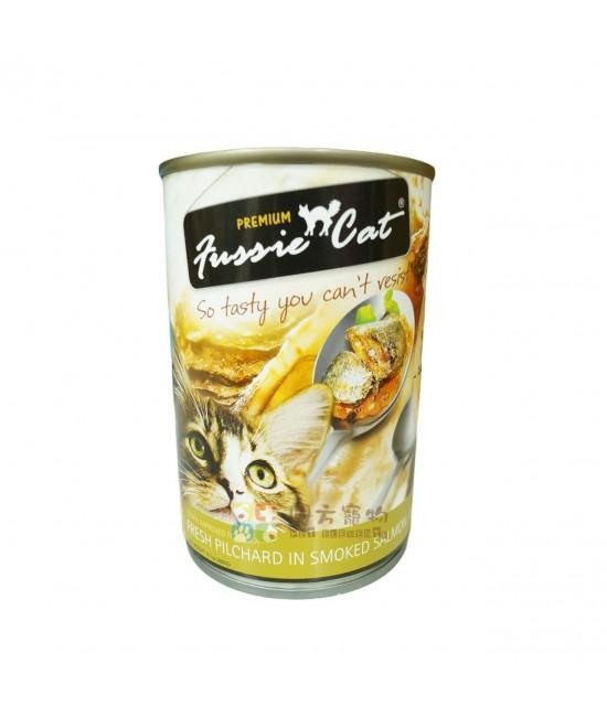 Fussie Cat 高竇貓 - 新鮮沙丁魚加煙三文魚汁 400G