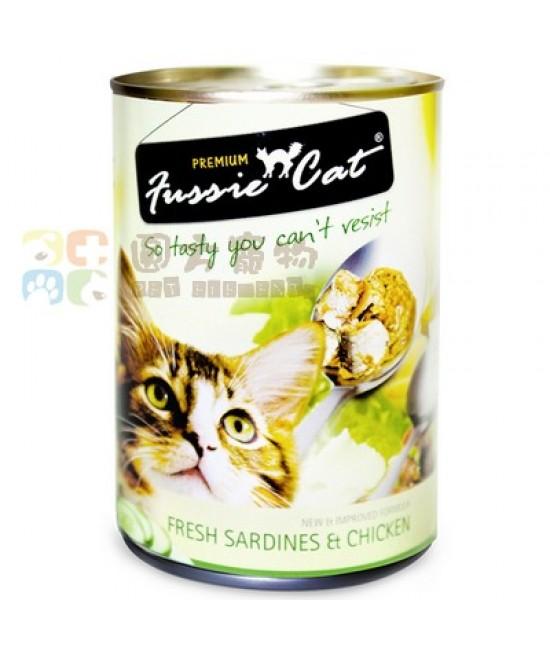 Fussie Cat 高竇貓 - 新鮮沙甸魚+雞肉 400G