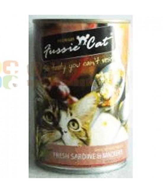 Fussie Cat 高竇貓 - 新鮮沙甸魚+鯖魚 400G