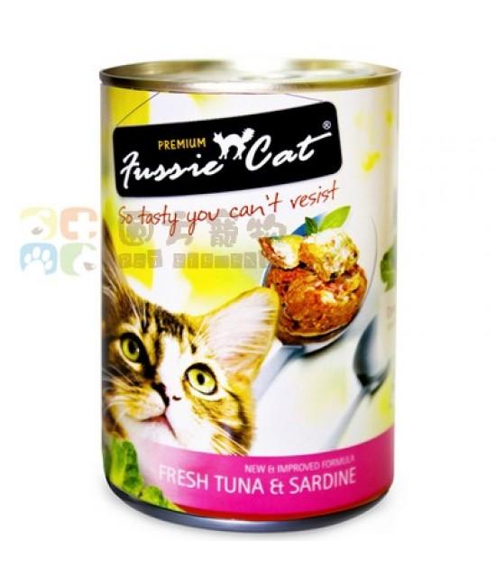 Fussie Cat 高竇貓 - 新鮮吞拿魚+沙甸魚 400G