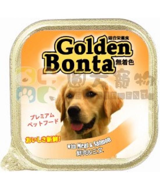 Golden Bonta 鮮肉+三文魚狗罐頭 - 100g