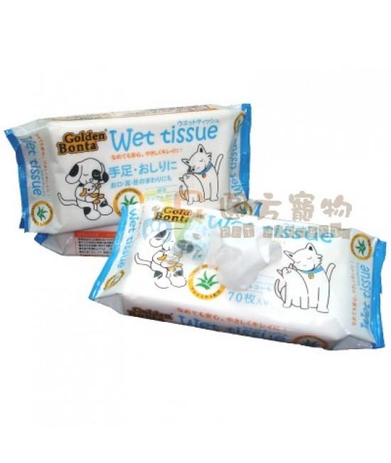 Golden Bonta 寵物用濕紙巾(蘆薈配方) - 70枚入