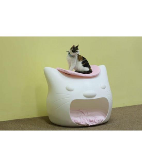 PETSINN派寵高檔貓頭窩硬PE kittymeow貓窩(白色)