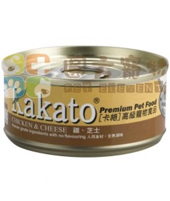 Kakato 卡格 雞加芝士罐頭 - 170g, 貓貓產品, Kakato 卡格