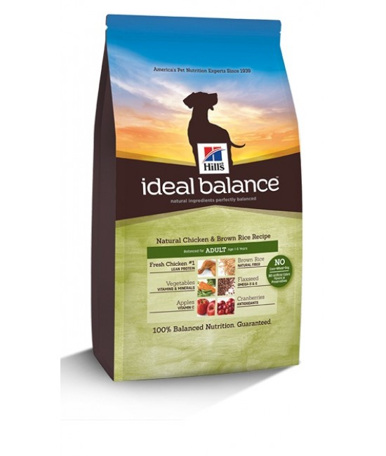 Hill's Ideal Balance Natural Chicken & Brown Rice Recipe Adult Dog Food, Dog Products, Hill's 希爾思