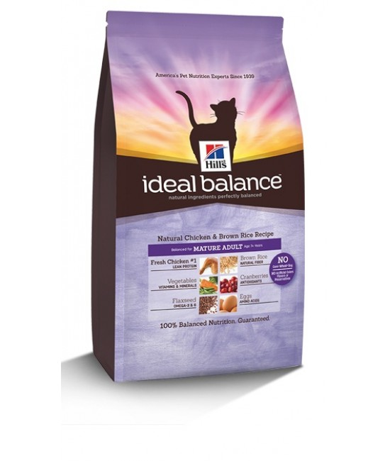 Hill's Ideal Balance Natural Chicken & Brown Rice Recipe Mature Adult Cats