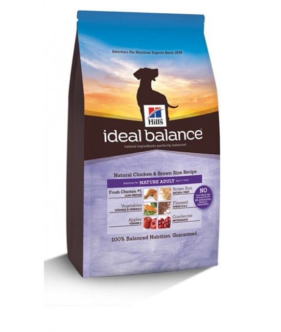 Hill's Ideal Balance Natural Chicken & Brown Rice Recipe Mature Adult Dog Food, Dog Products, Hill's 希爾思