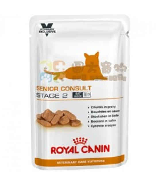 Royal Canin 法國皇家獸醫營養系列VCN Senior Consult (Stage 2) 貓濕糧100g