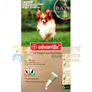 Bayer Advantix® Spot-on for Dog 益百分®系列三合一犬用殺蚤滴劑 - 4支裝