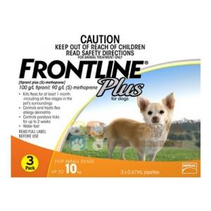 Frontline Plus 滴頸殺蚤(S)10公斤以下狗 - 3支裝(橙)